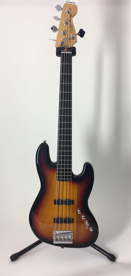 Squire Bass DLX ACT Jazz Bass V BLK